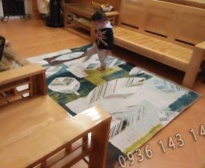 thảm lót sàn nhà bằng nỉ - sân chơi lí tưởng cho các bé