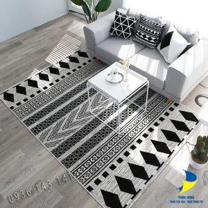 thảm lót sàn nhà đẹp bằng lông ngắn dệt cao cấp đẹp