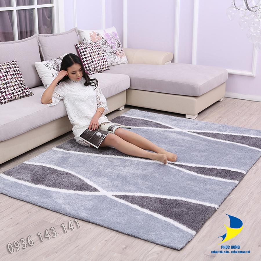 Cách trải thảm trải sàn phù hợp với sofa góc đẹp