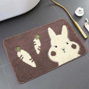 thảm chùi chân hình thỏ dễ thương