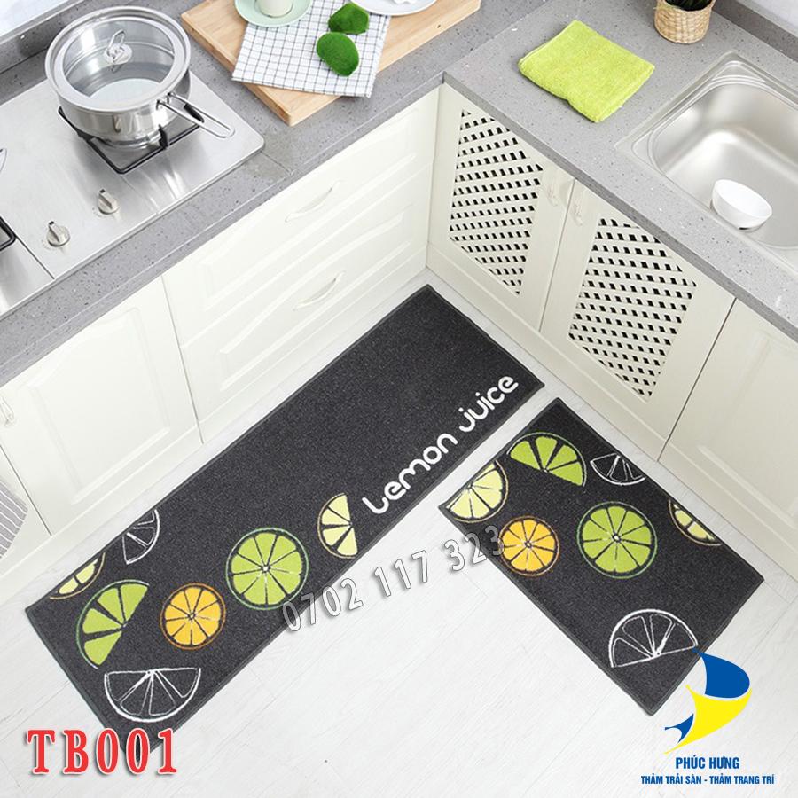 Thảm bếp giúp cho không gian đẹp hơn và giữ vệ sinh sạch sẽ hơn