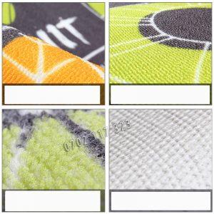 Mặt sau thảm bếp thiết kế chống trơn tuyệt đối với hạt cao su tổng hợp