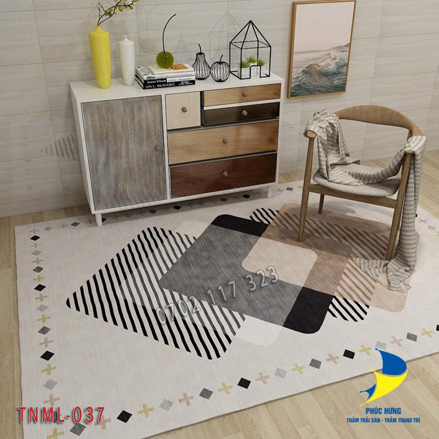 Thảm lót sàn nhà bằng nỉ mặt lỳ đẹp