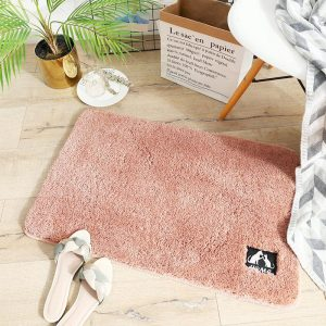 thảm chùi chân loại đẹp màu hồng