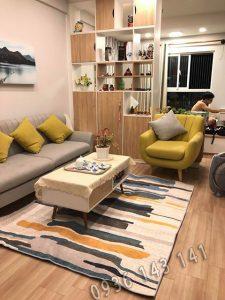 thảm lót sàn nhà HCM nhỏ gọn, trải nền dưới sofa tiết kiệm diện tích