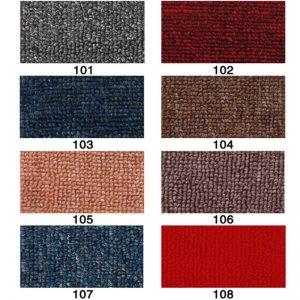 bảng mẫu thảm cuộn trải sàn phòng khách