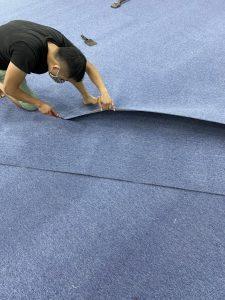 thì công thảm cuộn trải sàn