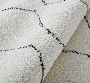 Bề mặt thảm trải sàn sợi bông mềm