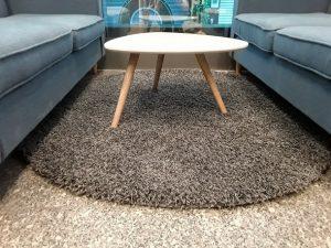 trải thảm sofa tròn đẹp