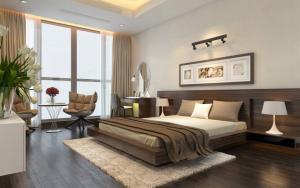 không gian phòng ngủ khách sạn