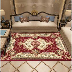 Thảm sofa giá rẻ hoàng gia đỏ