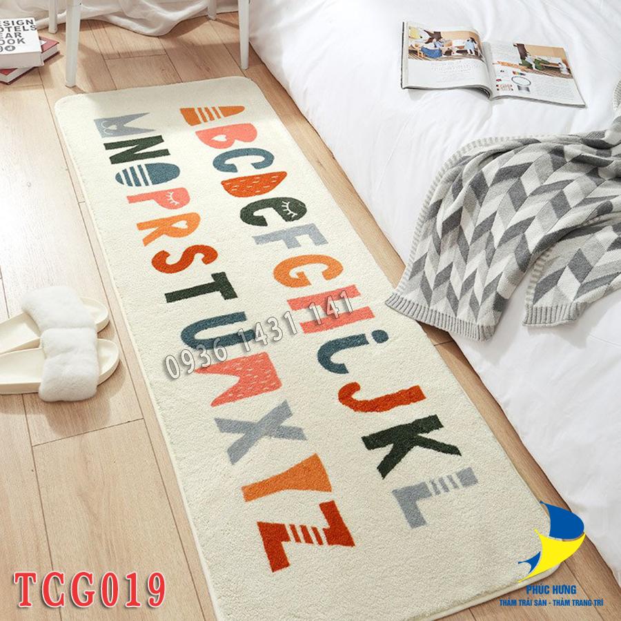 thảm chân giường bảng chữ cái